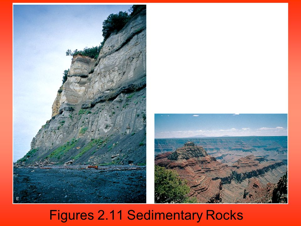 Figures 2.11 Sedimentary Rocks