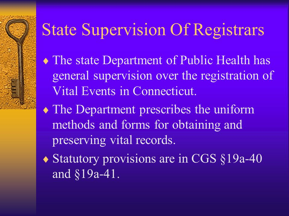 State Supervision Of Registrars