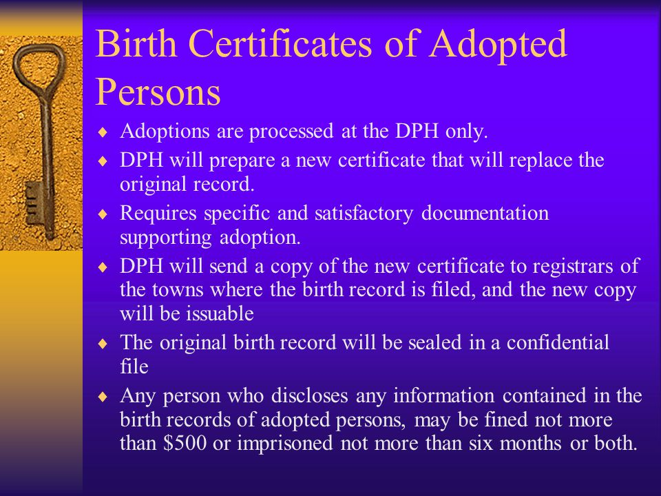Birth Certificates of Adopted Persons