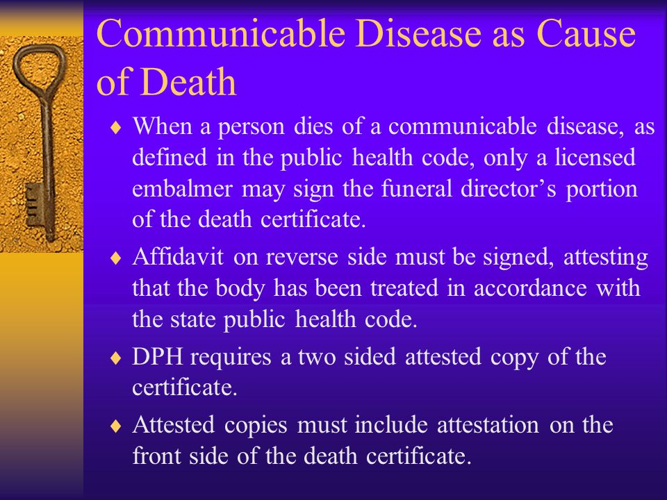 Communicable Disease as Cause of Death
