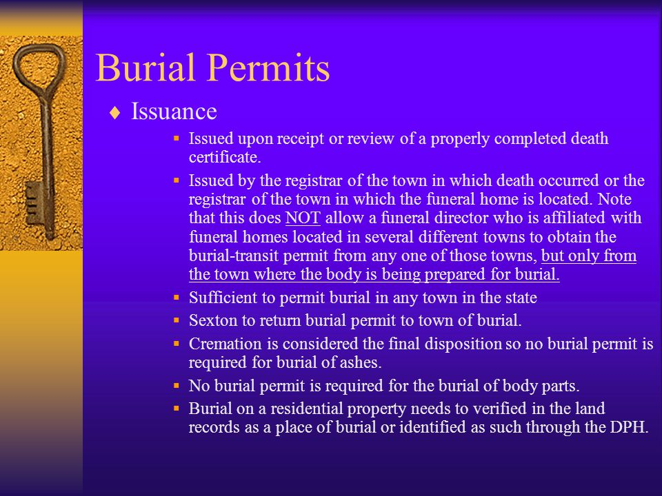 Burial Permits Issuance