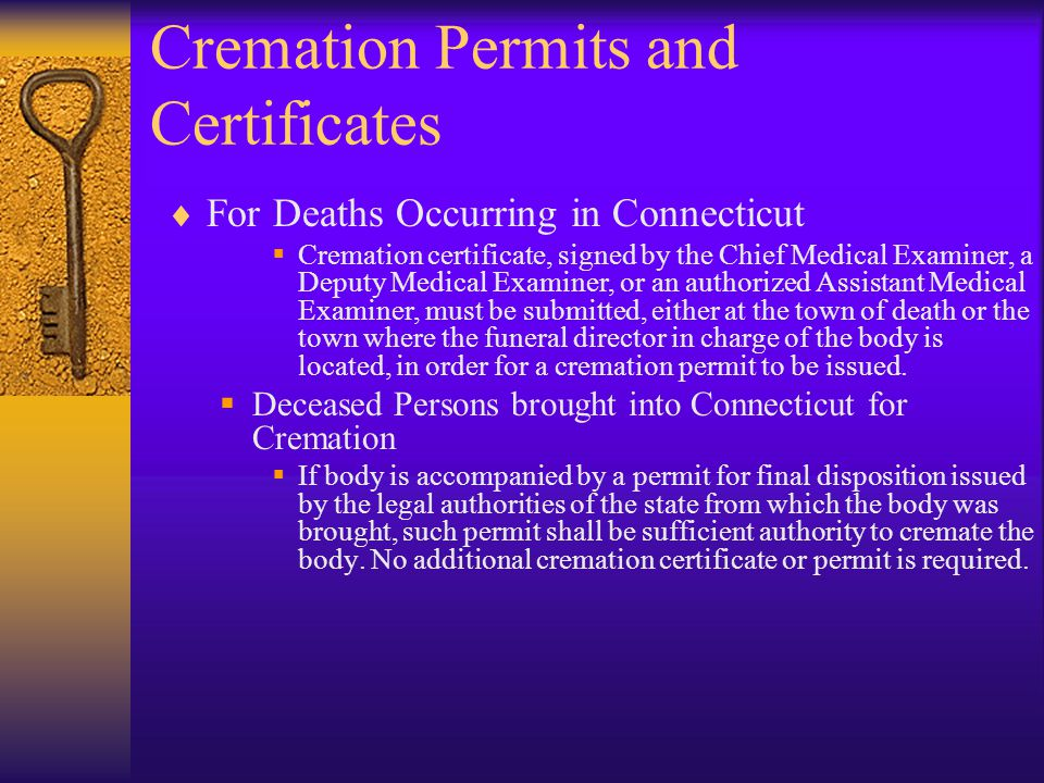 Cremation Permits and Certificates