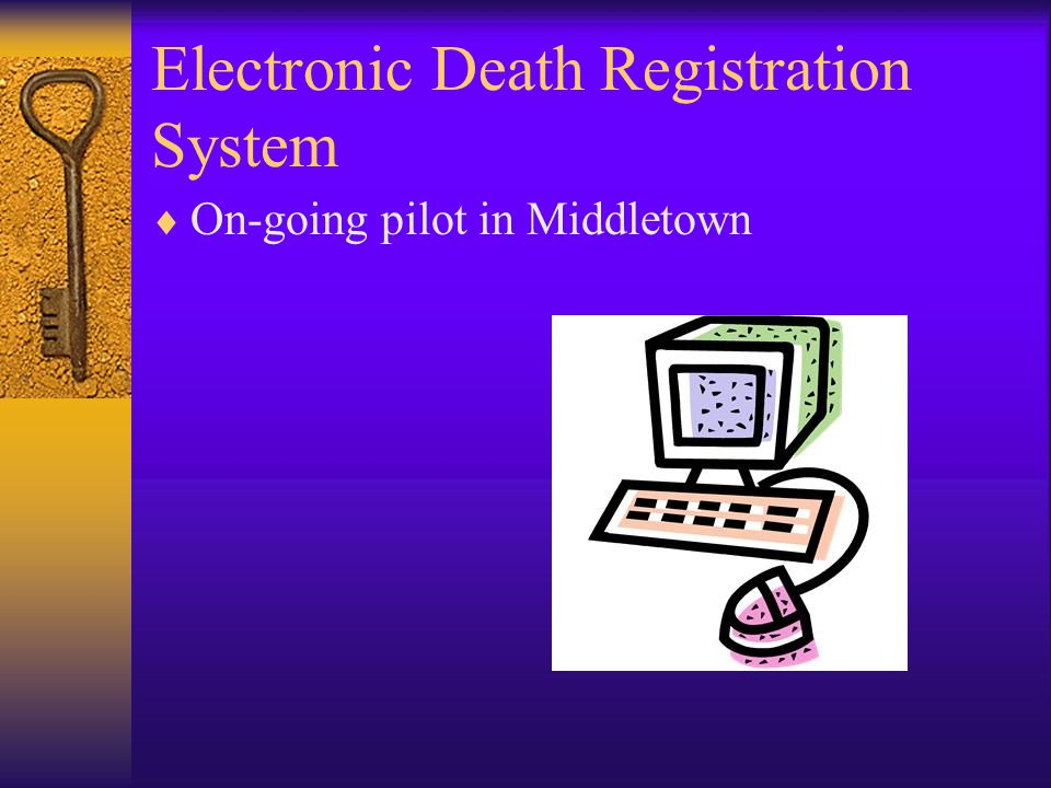 Electronic Death Registration System