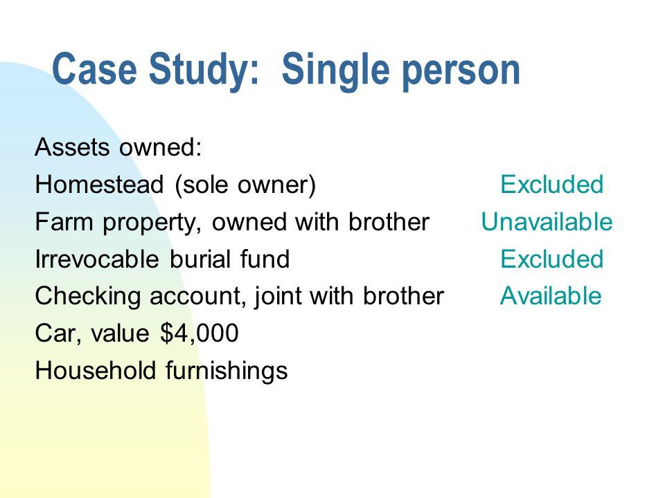 Case Study: Single person