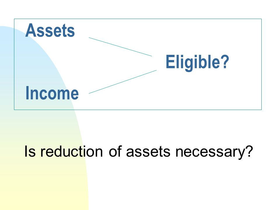 Assets Eligible Income
