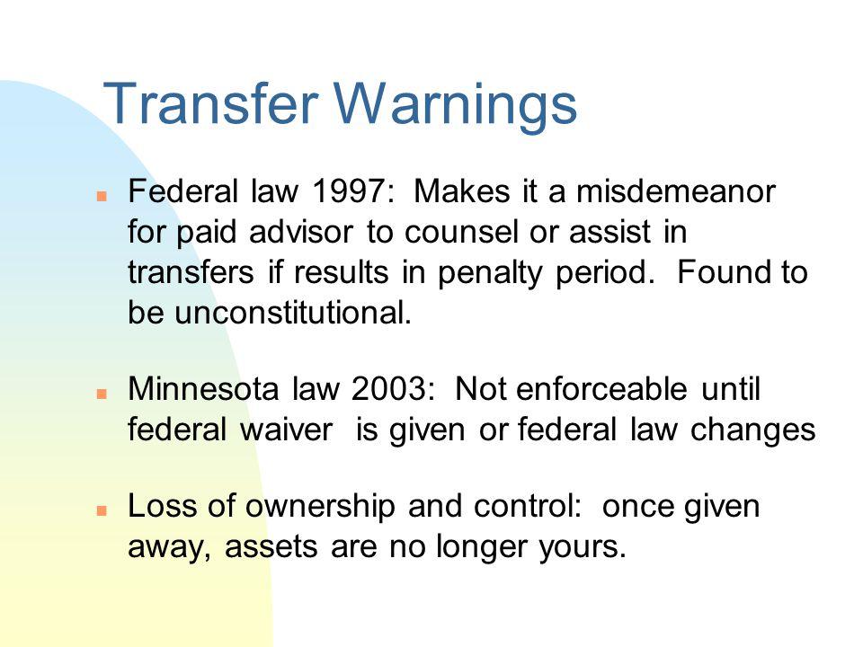 Transfer Warnings