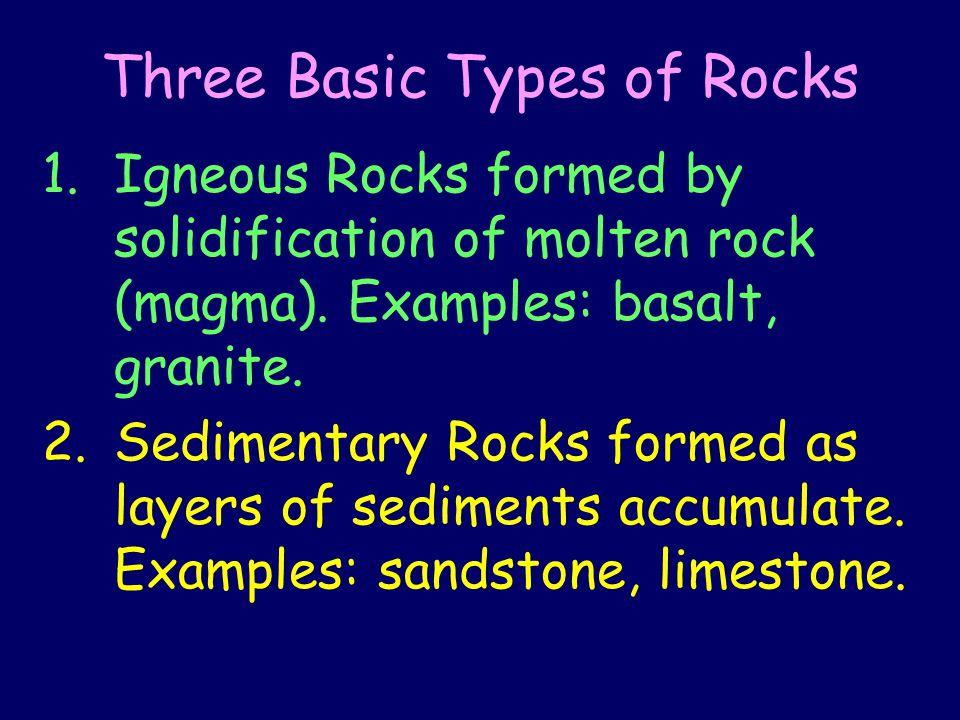 Three Basic Types of Rocks