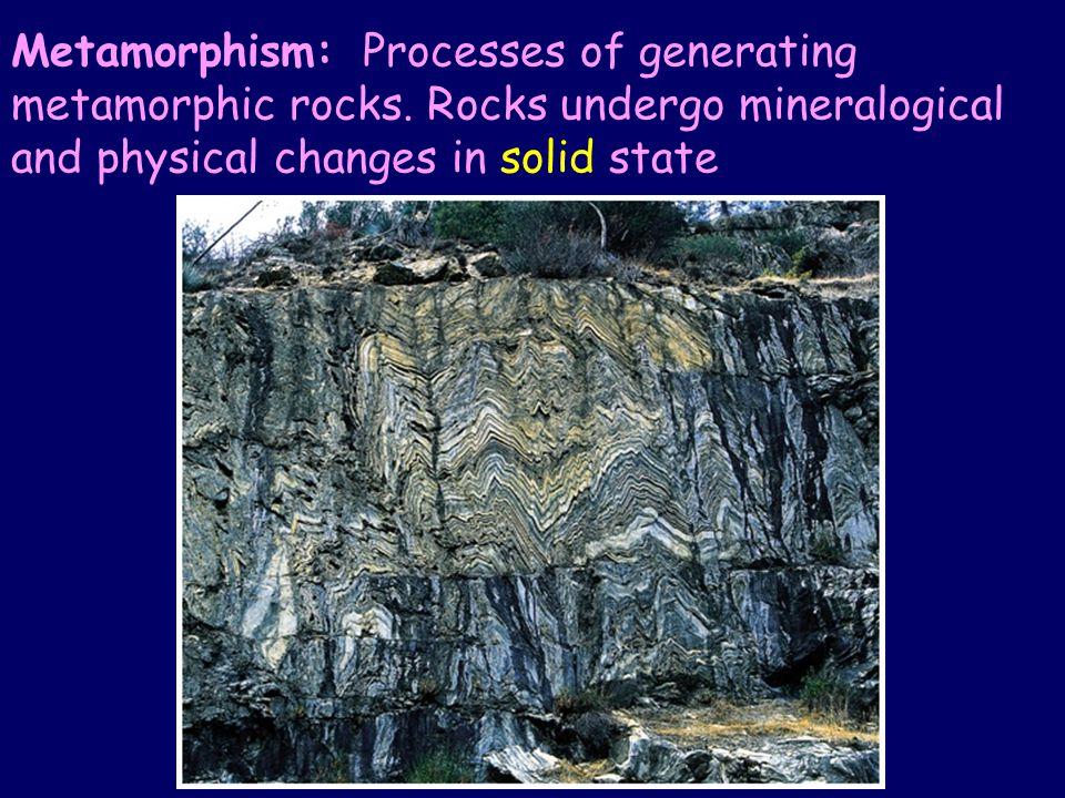 Metamorphism: Processes of generating metamorphic rocks