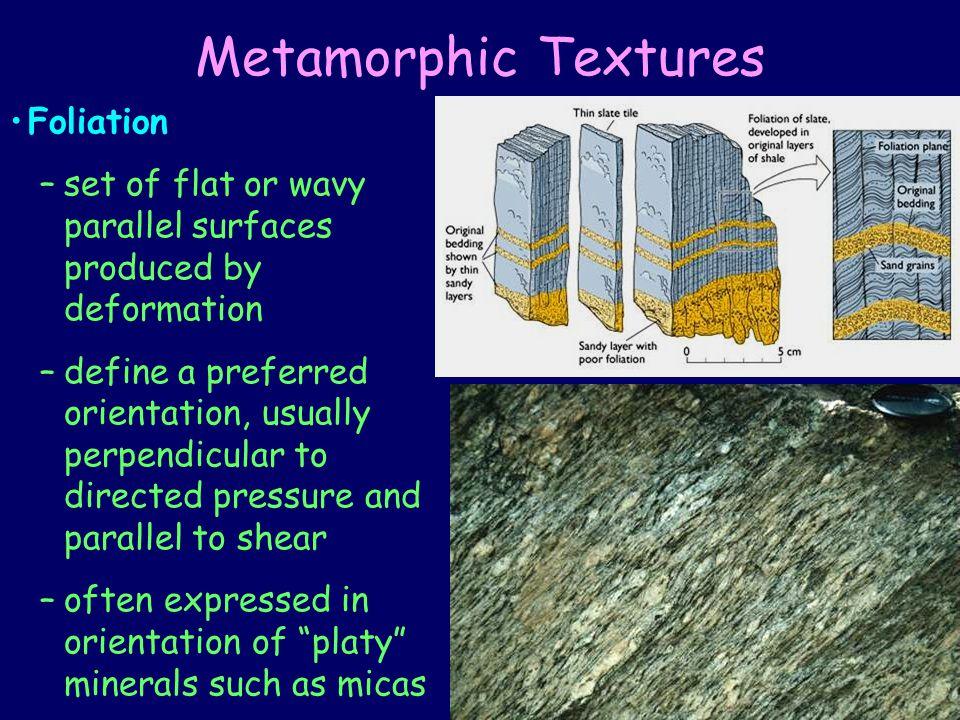 Metamorphic Textures Foliation