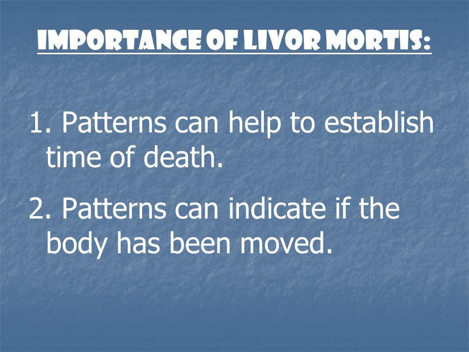 Importance of Livor Mortis:
