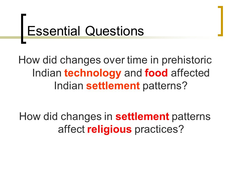 How did changes in settlement patterns affect religious practices