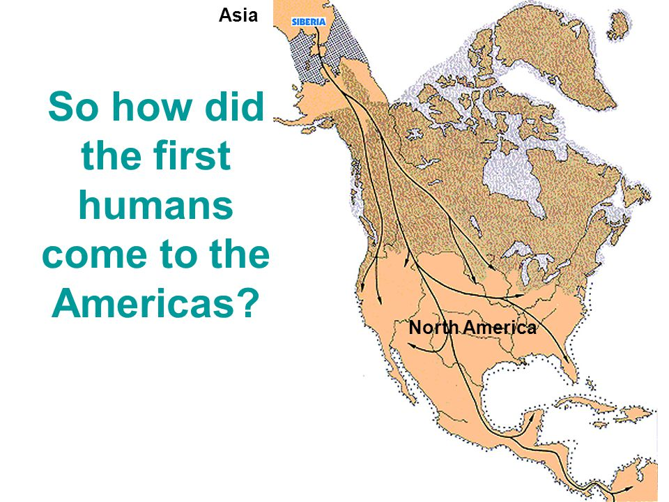 So how did the first humans come to the Americas