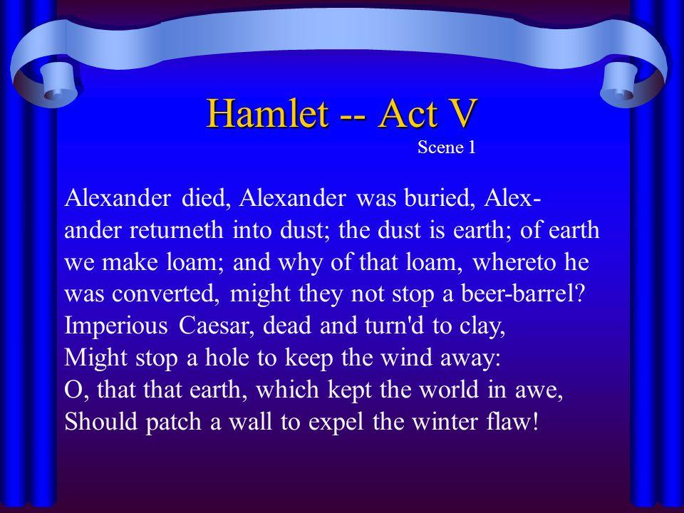 Hamlet -- Act V Scene 1.