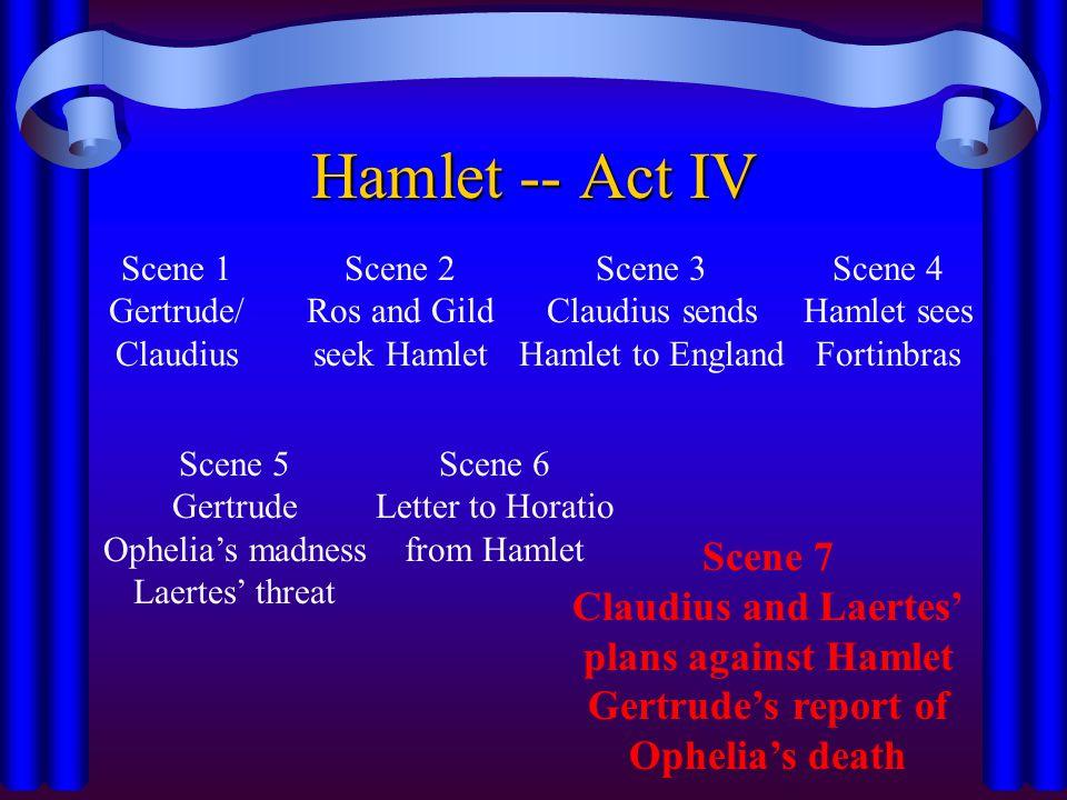 Hamlet -- Act IV Scene 7 Claudius and Laertes' plans against Hamlet
