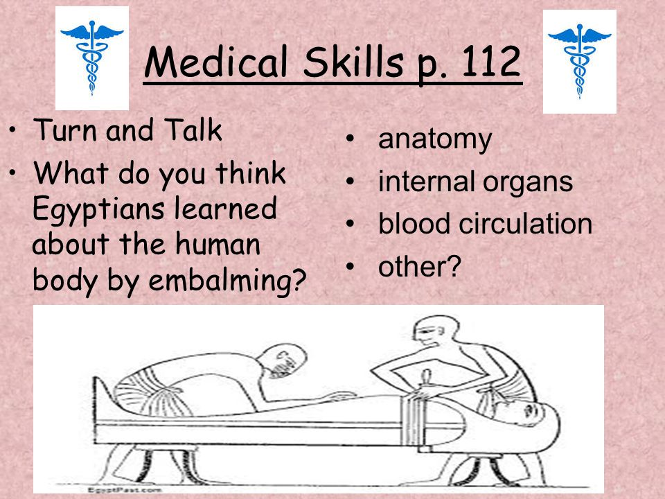 Medical Skills p. 112 Turn and Talk anatomy