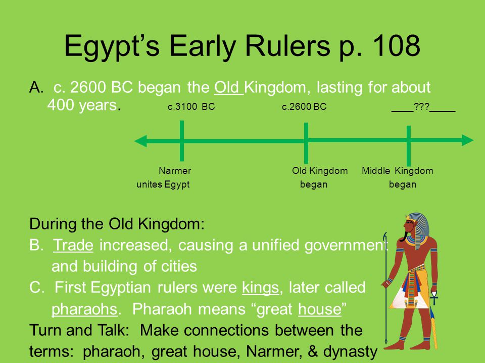 Egypt's Early Rulers p. 108