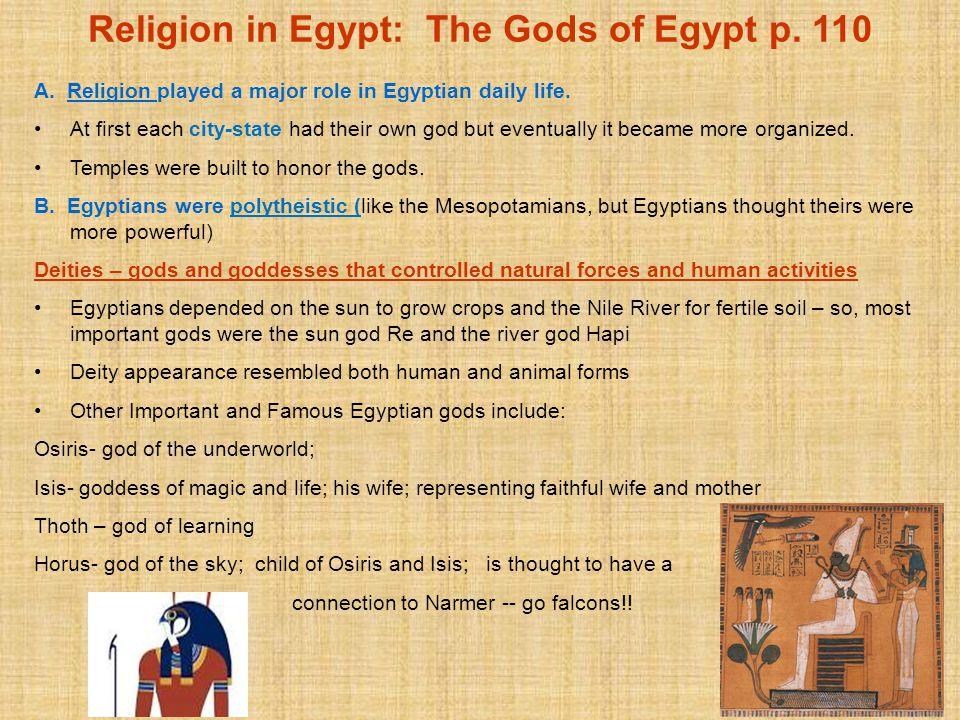 Religion in Egypt: The Gods of Egypt p. 110
