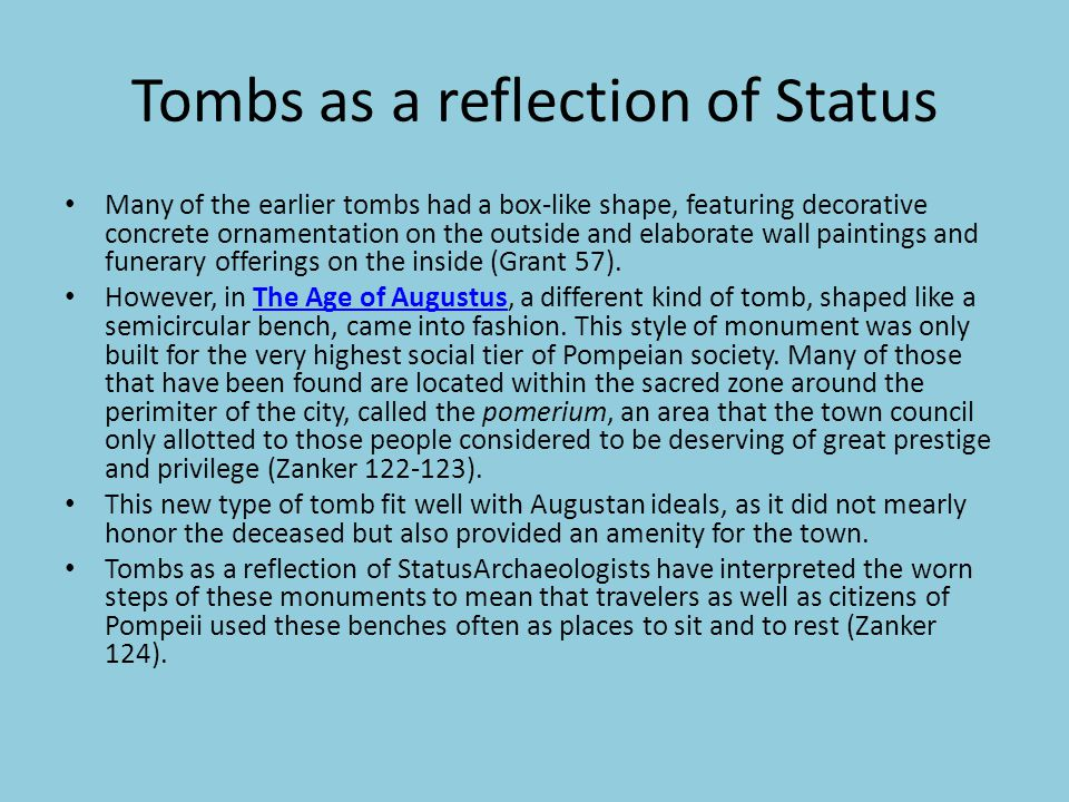 Tombs as a reflection of Status