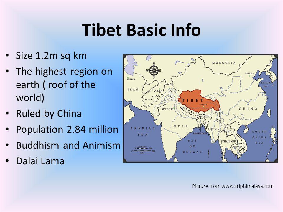Tibet Basic Info Size 1.2m sq km
