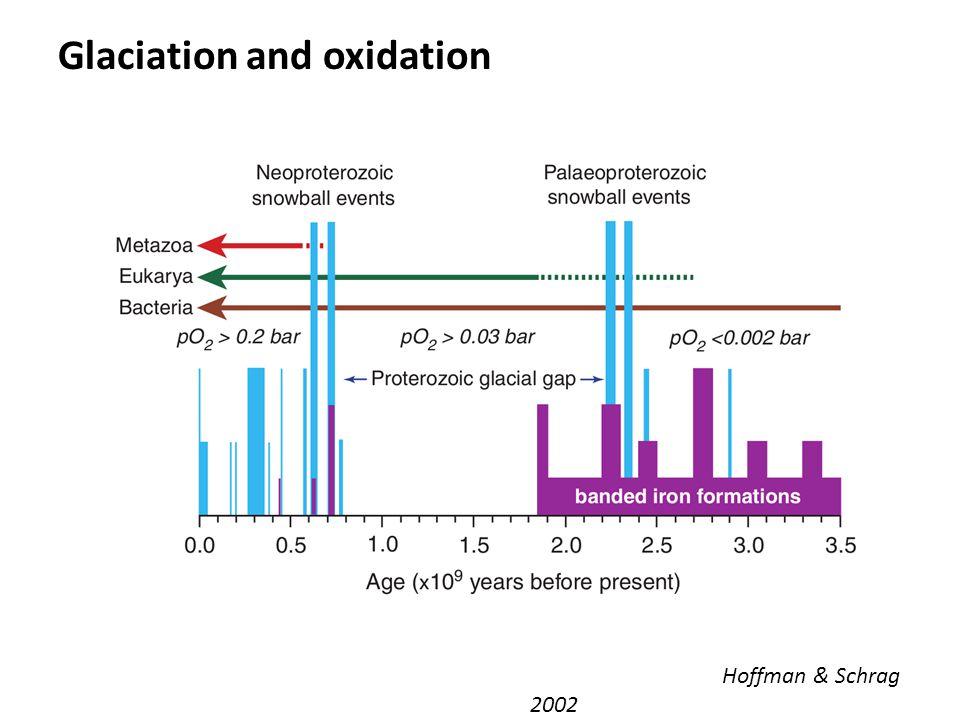 Glaciation and oxidation