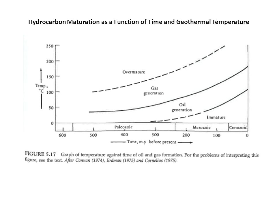 Hydrocarbon Maturation as a Function of Time and Geothermal Temperature