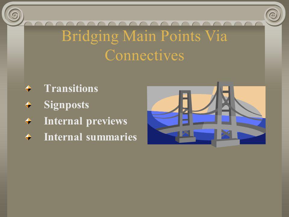 Bridging Main Points Via Connectives