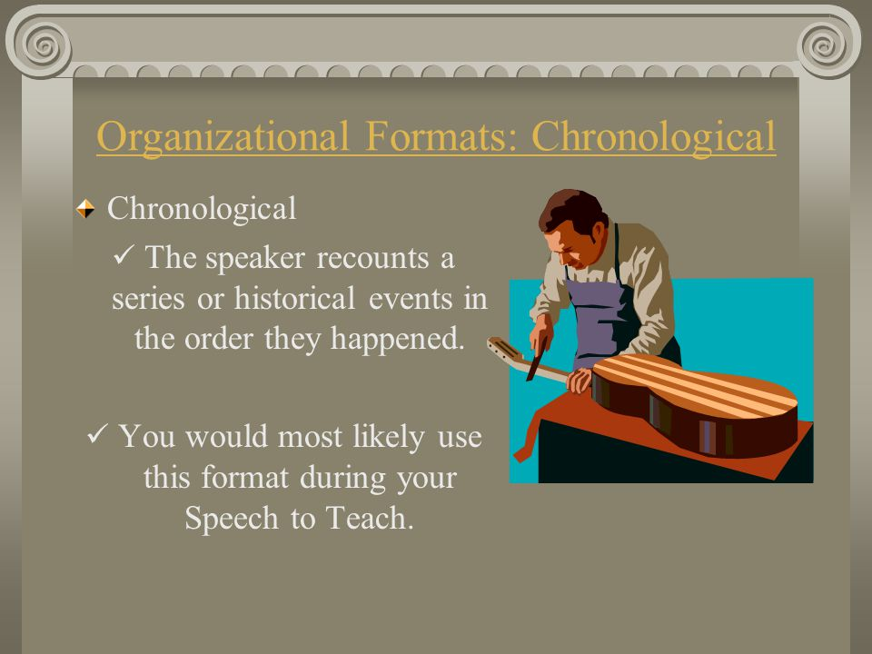 Organizational Formats: Chronological
