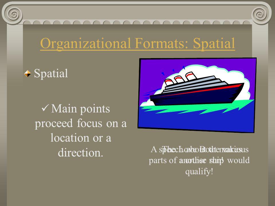 Organizational Formats: Spatial