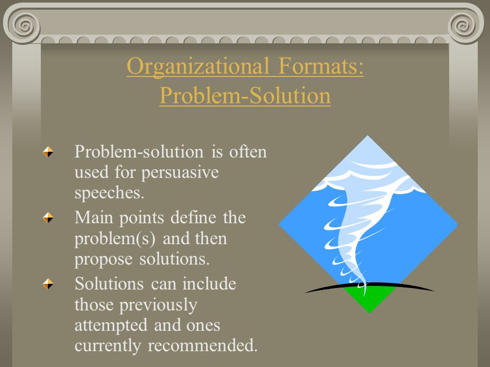 Organizational Formats: Problem-Solution