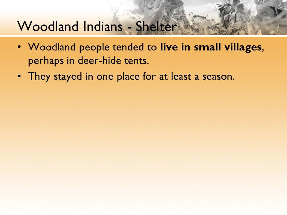 Woodland Indians - Shelter