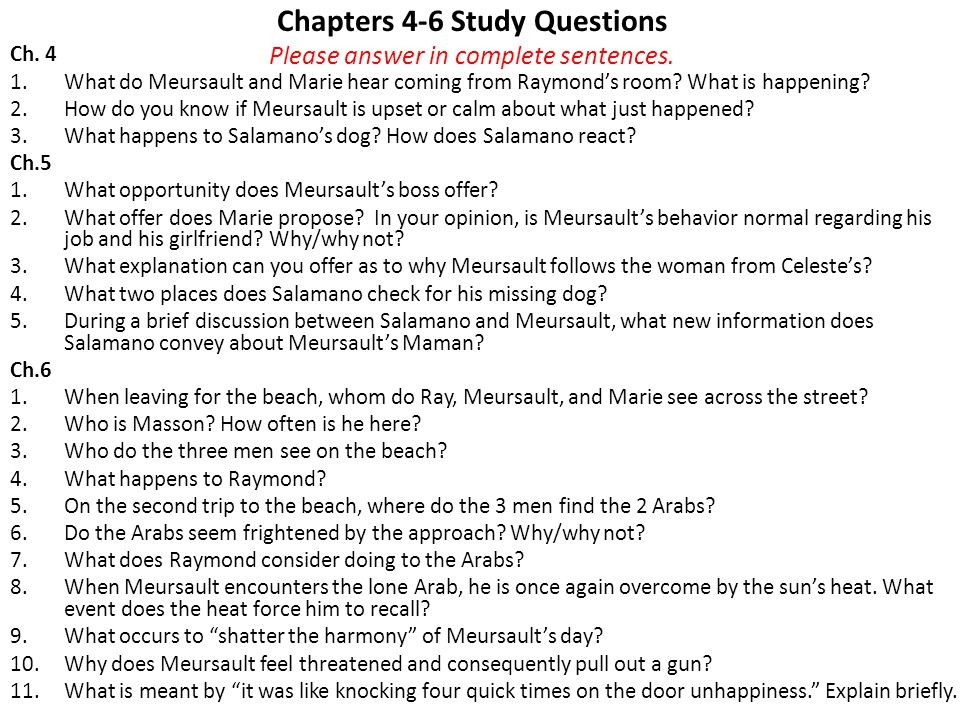 Chapters 4-6 Study Questions Please answer in complete sentences.