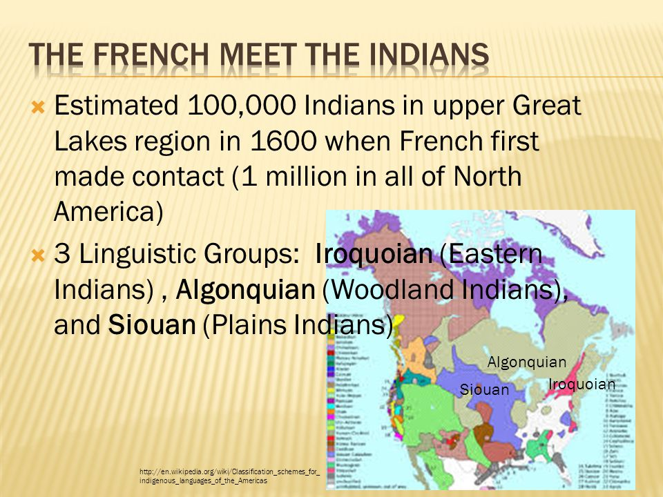 The French meet the Indians