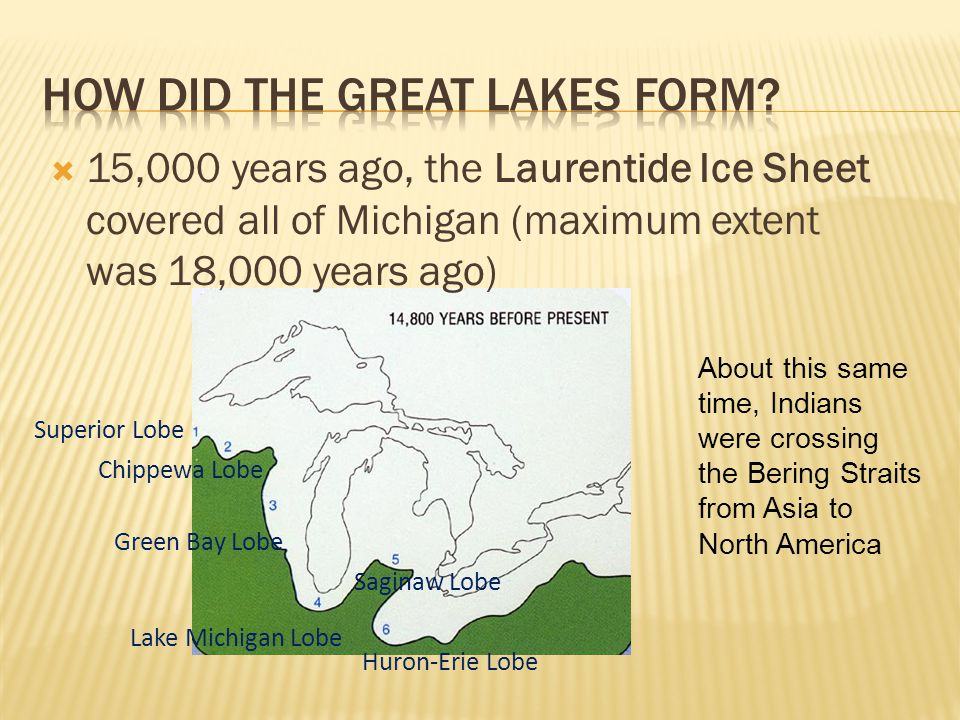 How did the Great Lakes form