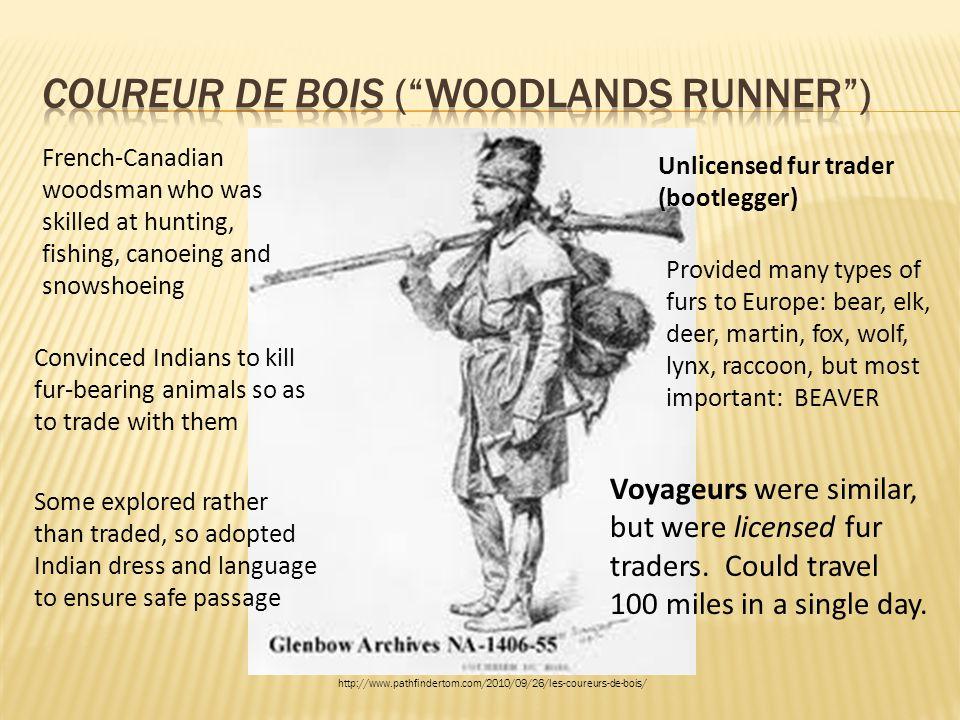 Coureur de Bois ( woodlands runner )