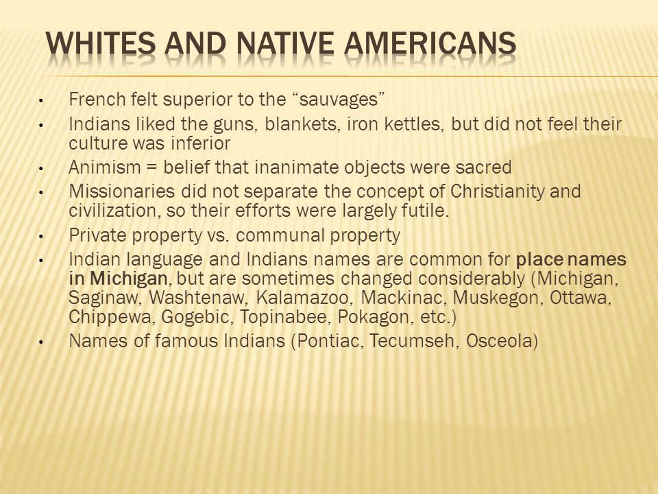 Whites and Native americans