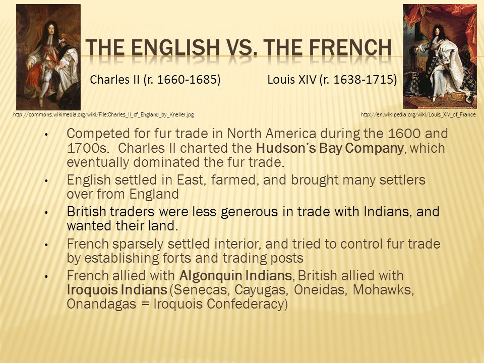 The English vs. the French