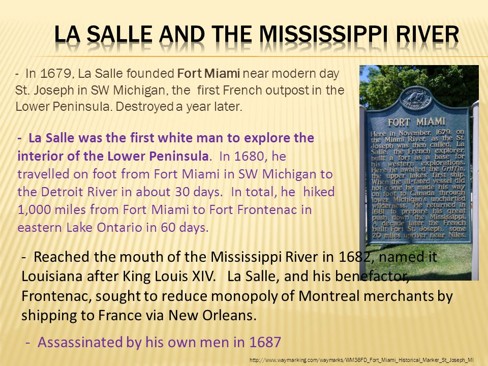 La Salle and the Mississippi River
