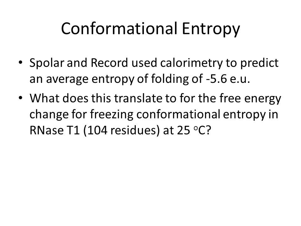 Conformational Entropy