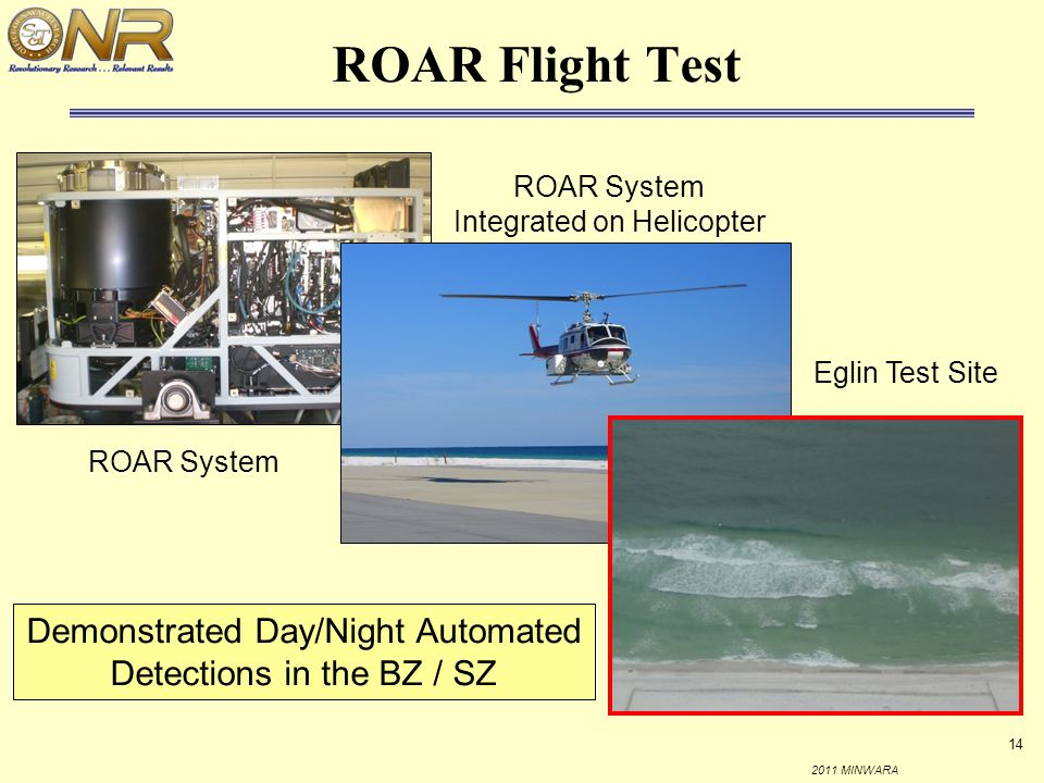 ROAR Flight Test ROAR System Integrated on Helicopter.