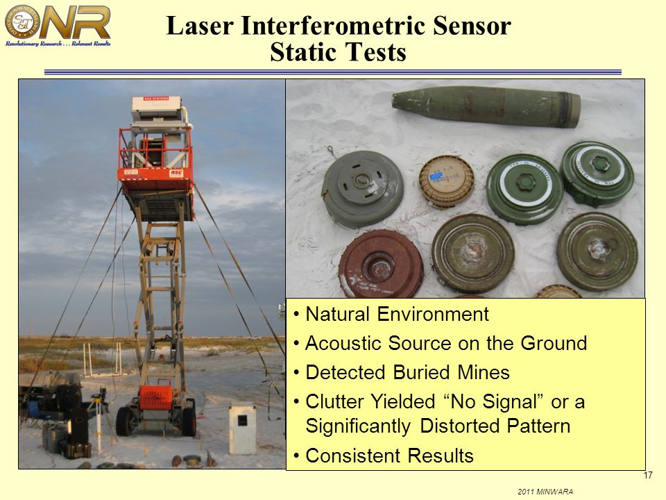 Laser Interferometric Sensor Static Tests