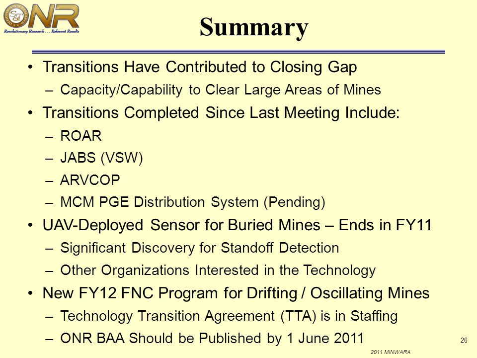 Summary Transitions Have Contributed to Closing Gap