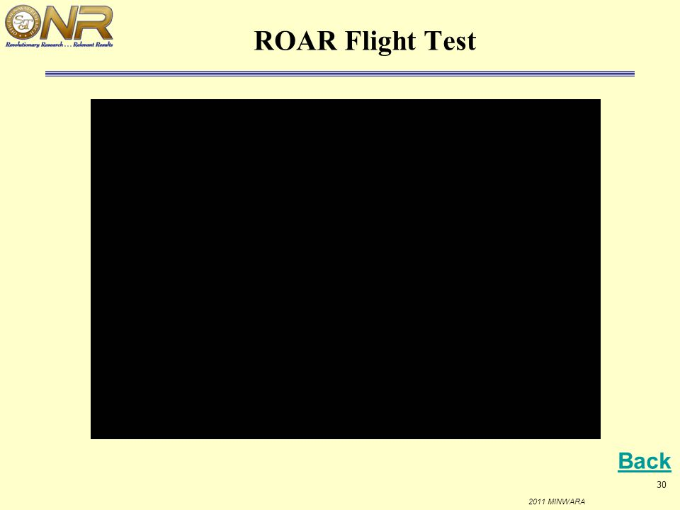 ROAR Flight Test Back
