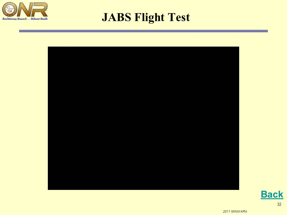 JABS Flight Test Back