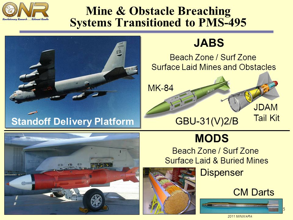 Mine & Obstacle Breaching Systems Transitioned to PMS-495