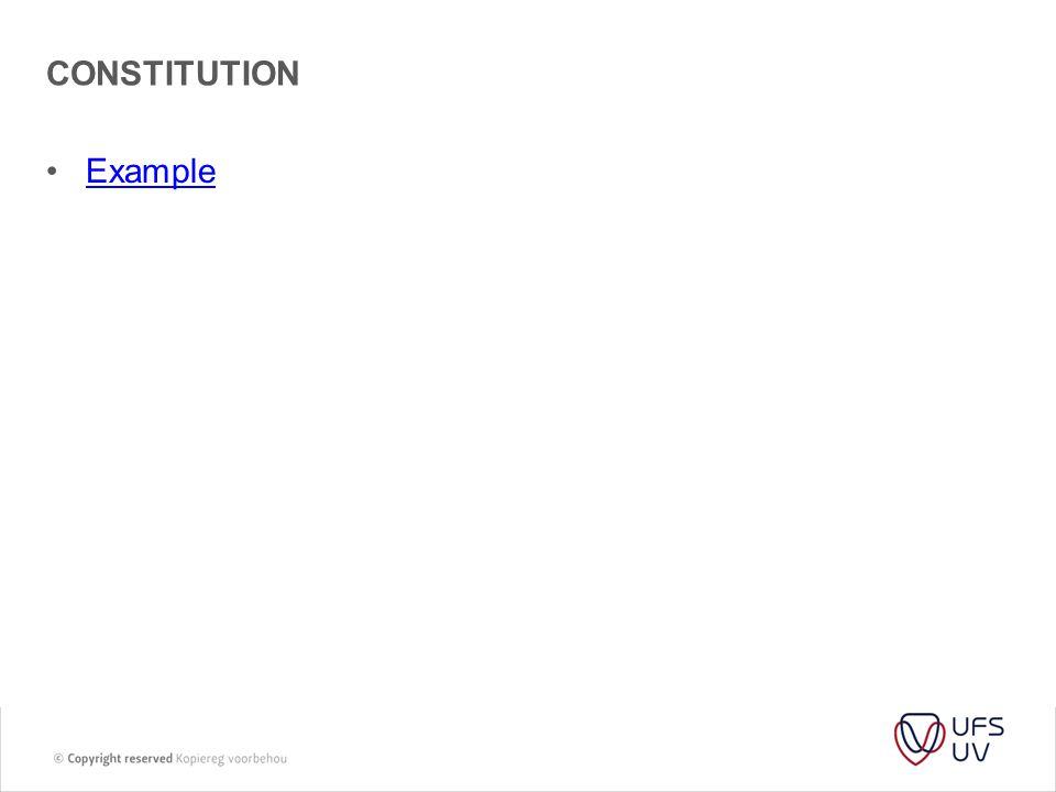 coNSTITUTION Example