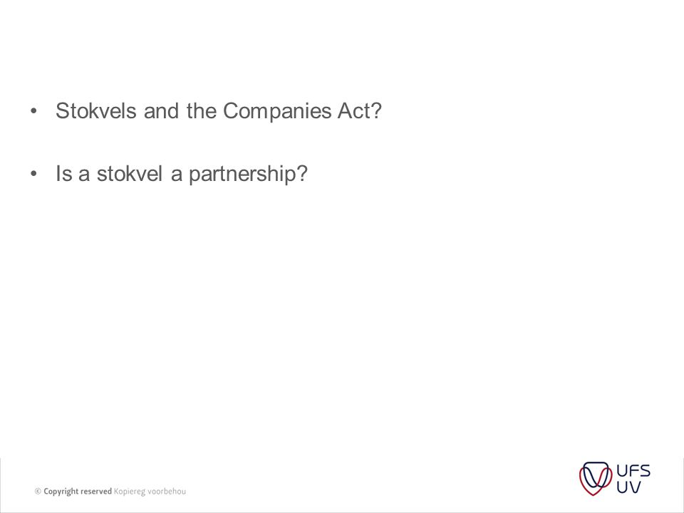Stokvels and the Companies Act
