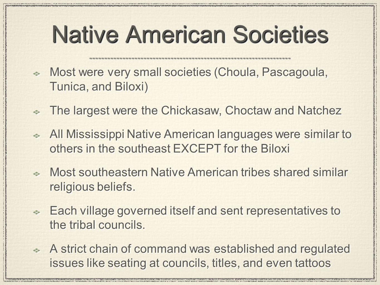 Native American Societies