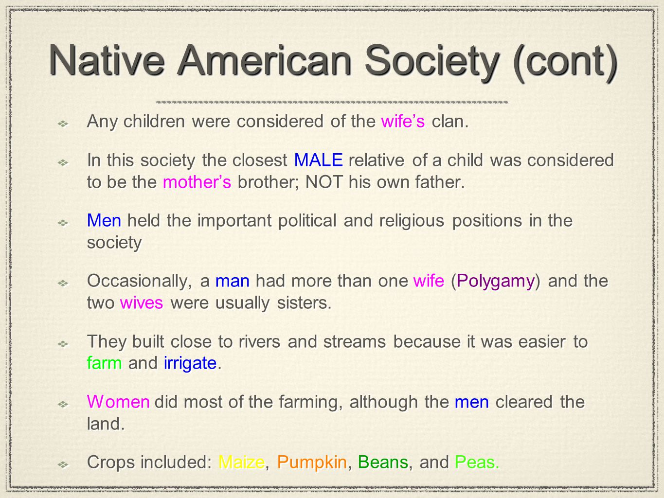 Native American Society (cont)