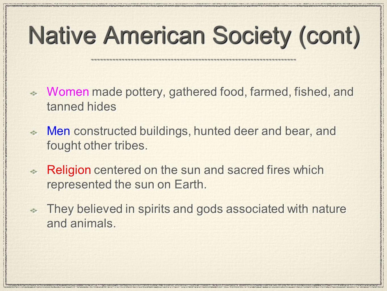 Native American Society (cont)