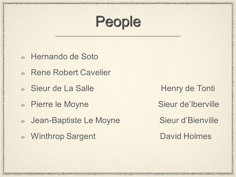 People Hernando de Soto Rene Robert Cavelier